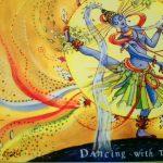 nataraja the dancing shiva in colorful extasy