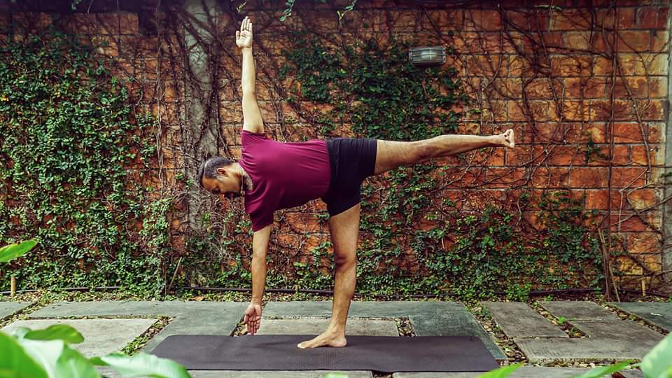 Parveen Nair yoga pose